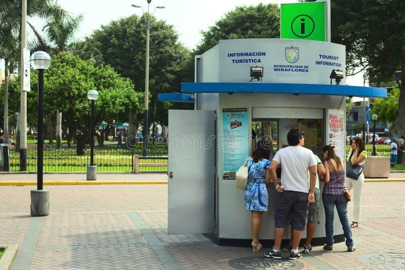 Tourist Information in Miraflores, Lima, Peru royalty free stock photo