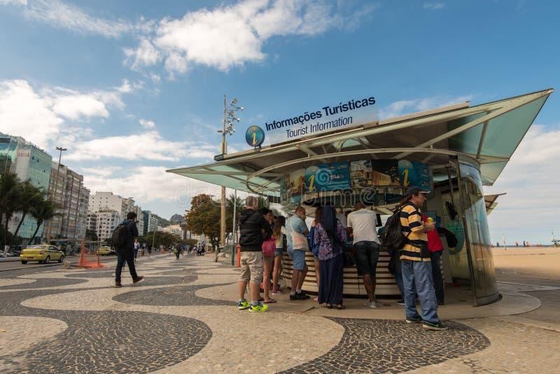 Tourist Information in Rio de Janeiro stock photo