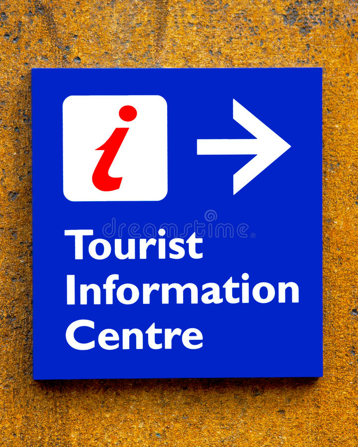 Tourist information Sign. On A Wall royalty free stock image