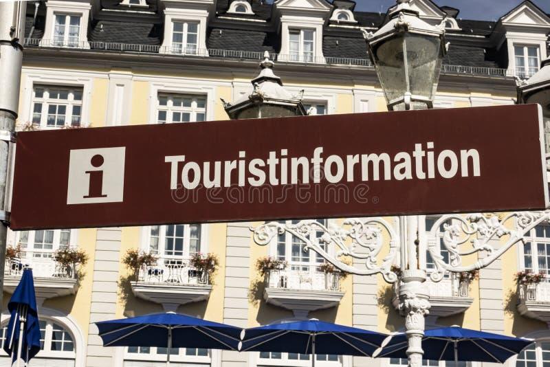 Tourist Information Sign. Brown Tourist Information sign in german langugage royalty free stock image