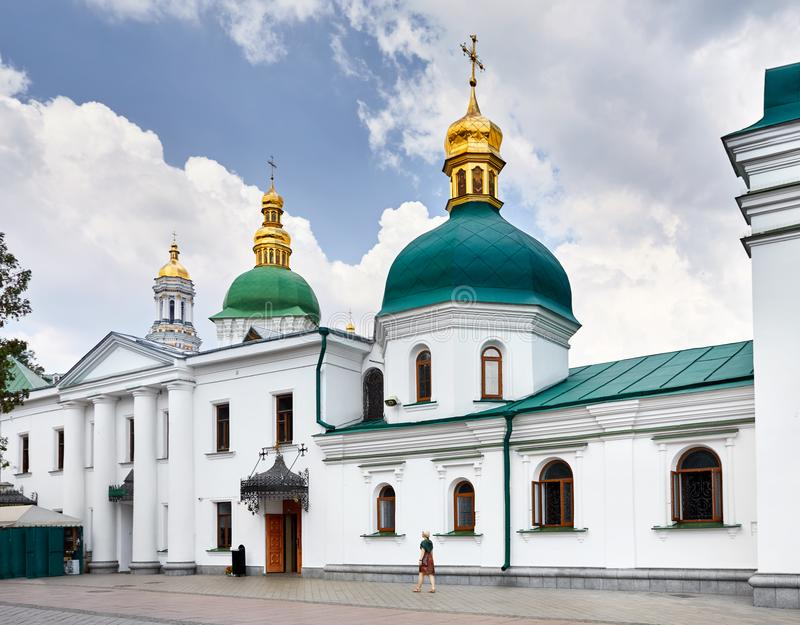 Tourist in Kiev Pechersk Lavra stock image