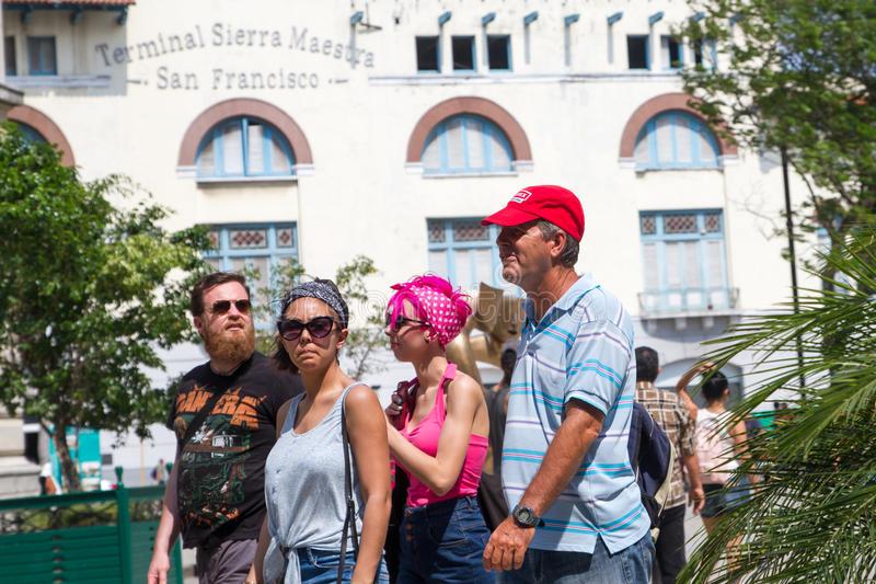 Tourist in Kuba lizenzfreies stockfoto
