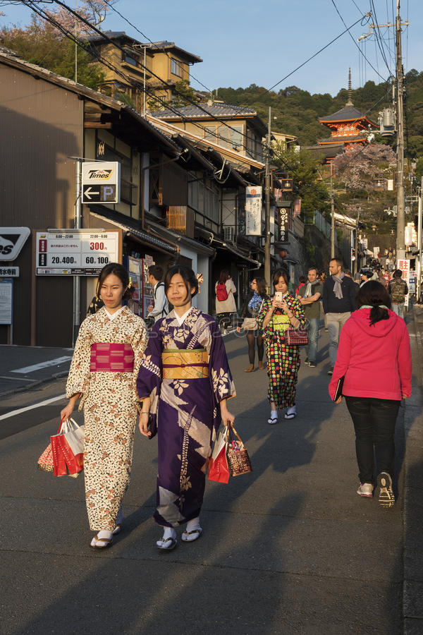 Tourist in Kyoto, Japan royalty free stock image