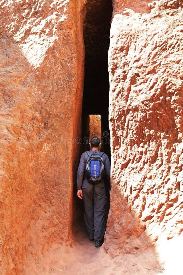 Download Tourist in Lalibela stock image. Image of ethiopia, glow - 12865437