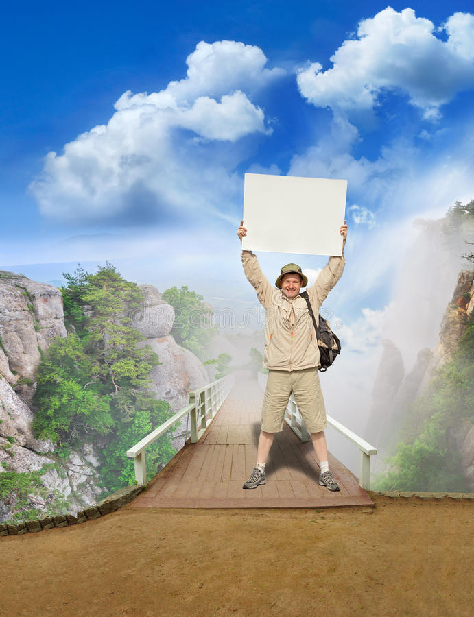 Download Tourist on a landscape stock photo. Image of cloud, lost - 16597318