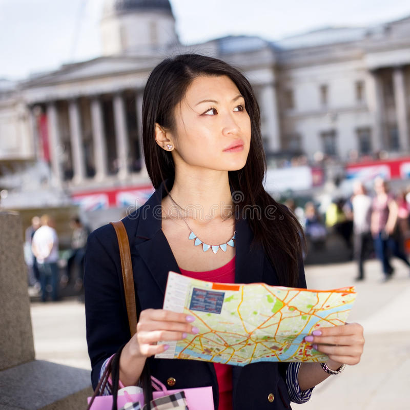 Tourist in London royalty free stock image