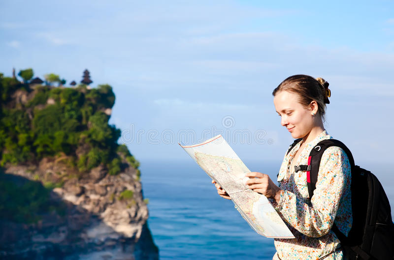 Tourist With Map Royalty Free Stock Photography