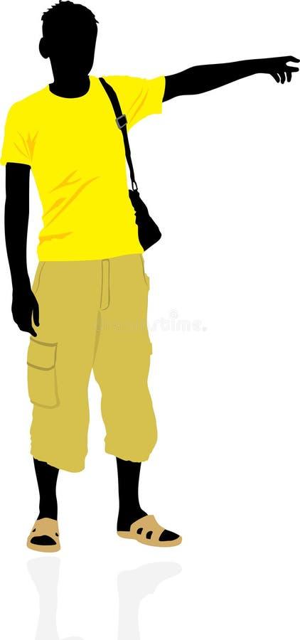 Download Tourist. Masculine Silhouette Stock Vector - Image: 14356464