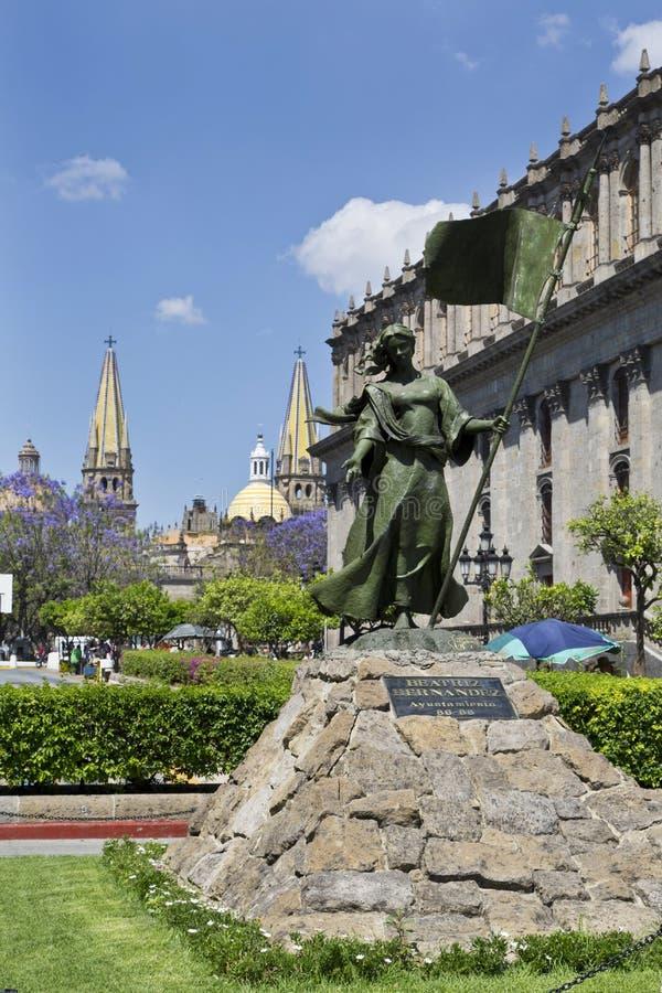 Tourist monuments of the city of Guadalajara. Monuments of Guadalajara, Jalisco, Mexico stock photo