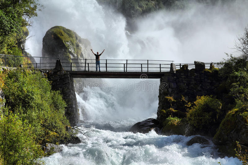 Tourist in Norway royalty free stock photography