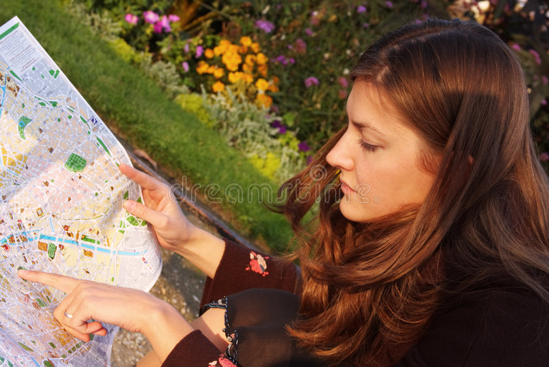 Tourist In Paris Lizenzfreies Stockfoto