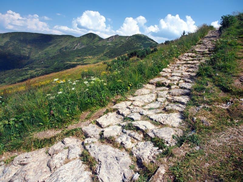 Tourist path on Chleb peak stock photos