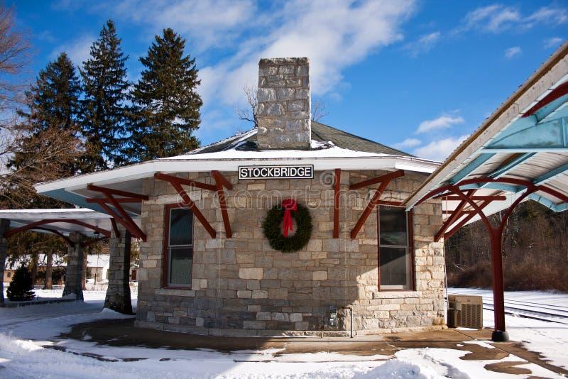 Tourist railway station royalty free stock photo