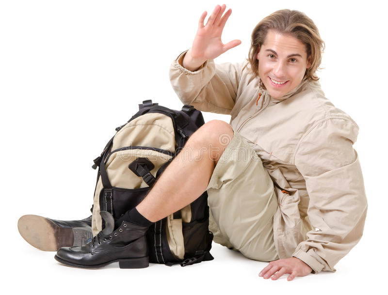 Download Tourist at rest stock photo. Image of backpacker, lifestyle - 22652510