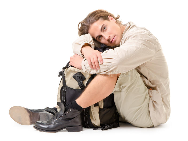 Download Tourist at rest stock photo. Image of male, active, lifestyle - 23068448