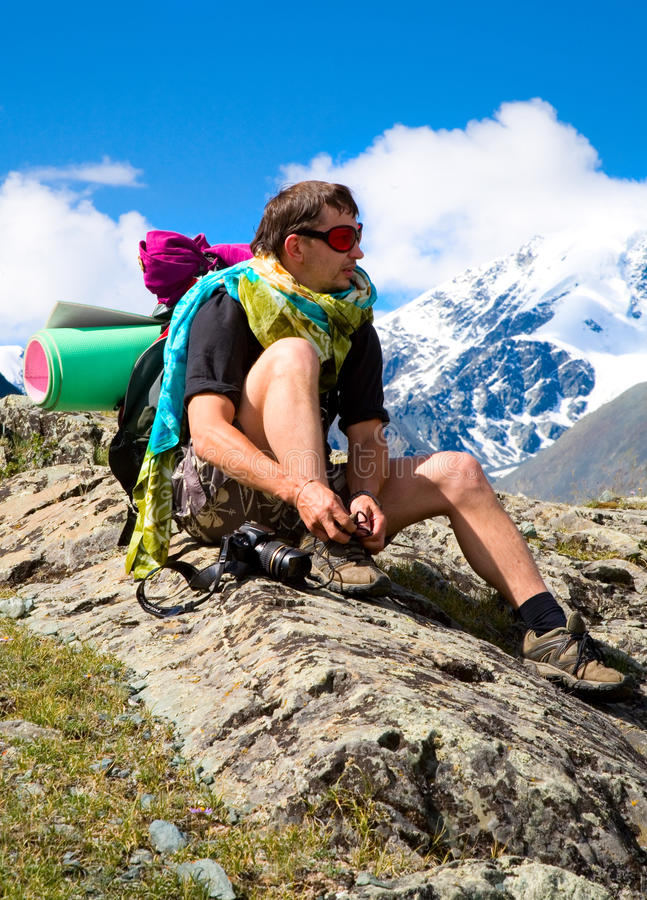 Download Tourist rests stock image. Image of hike, lace, mountain - 10622035