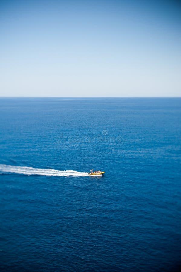 Tourist sailing boat on the sea