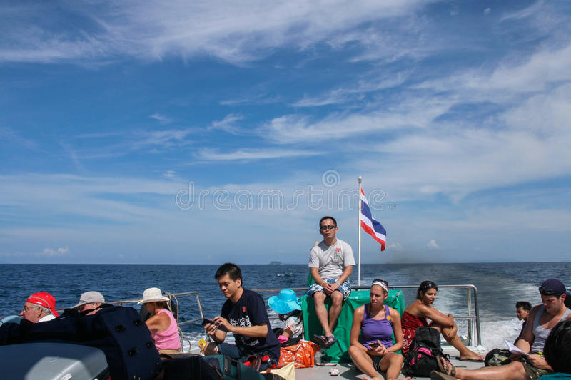 Download The Tourist In Sightseeing Boat In Phi Phi Island,thailand Editorial Image - Image: 42158370