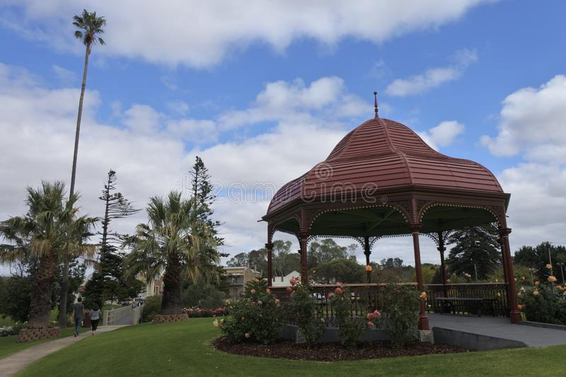 Tourist at Soldiers Memorial Gardens in Strathalbyn South Australia royalty free stock photos