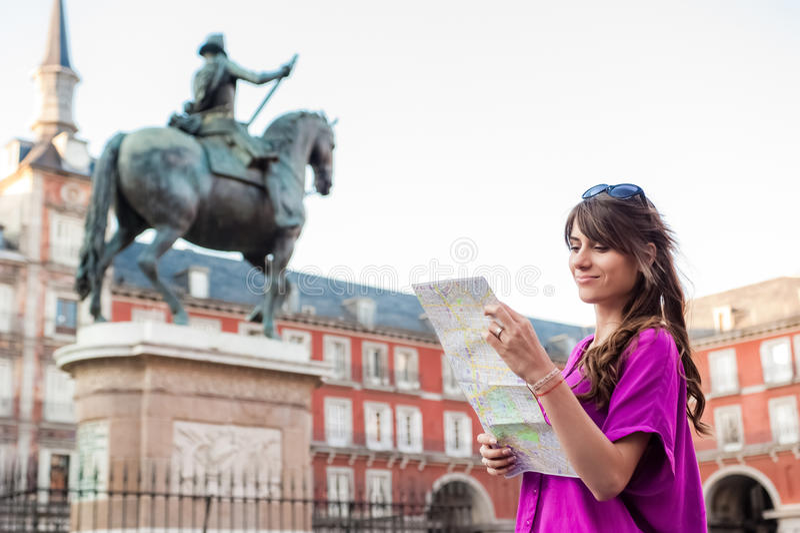 Tourist in Spanien lizenzfreies stockbild