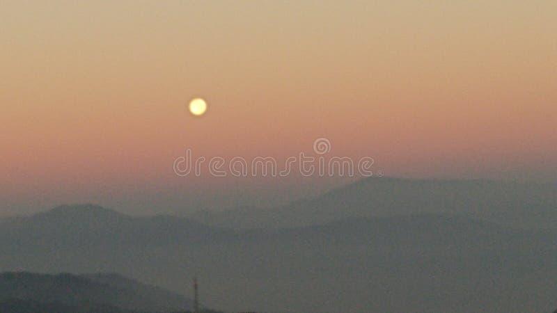 Beauty Nature of Darjeeling india. Tourist spot in Darjeeling India  with beautiful nature and sunset and wonderful weather stock image