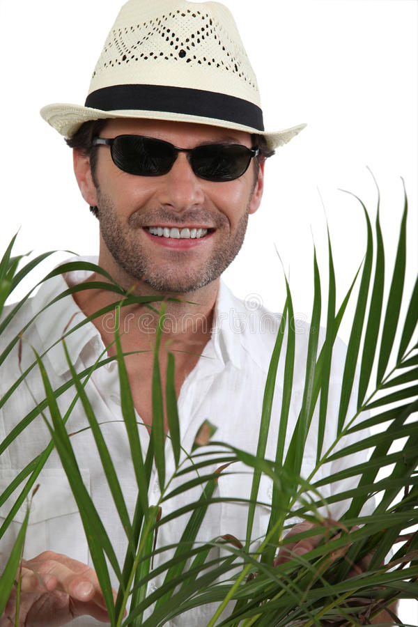 Download Tourist with straw hat stock image. Image of explorer - 22630551