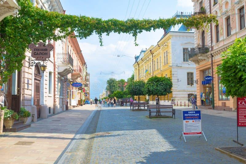 The tourist street stock image