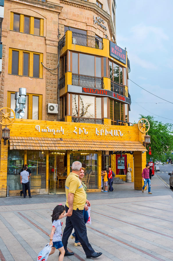 The tourist street in Yerevan royalty free stock photos