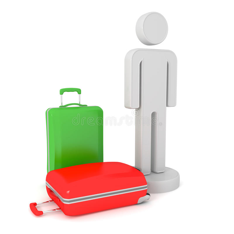 Download Tourist with suitcases stock illustration. Image of tourist - 33590528