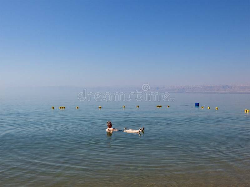 Swimming, Floating, Dead Sea, Travel, Middle East royalty free stock image