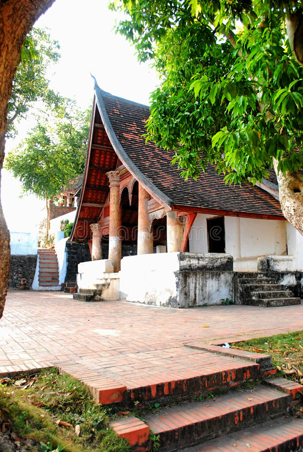 Tourist temple Old town in Laos royalty free stock photography