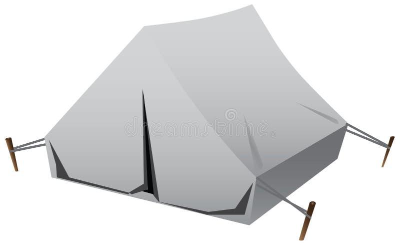 Tourist tent vector illustration