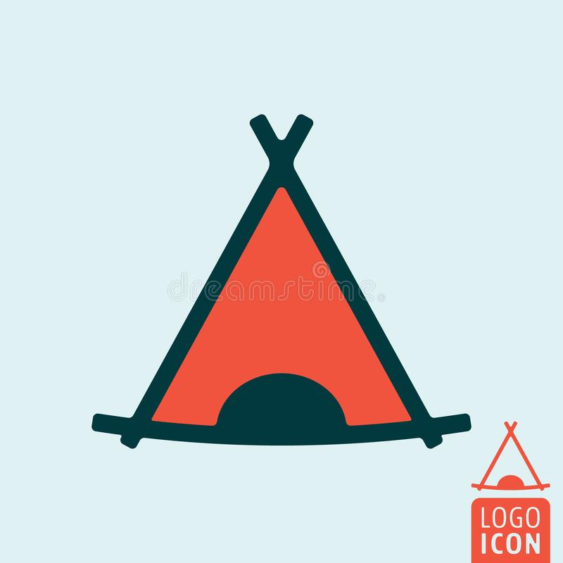 Tourist tent icon stock illustration