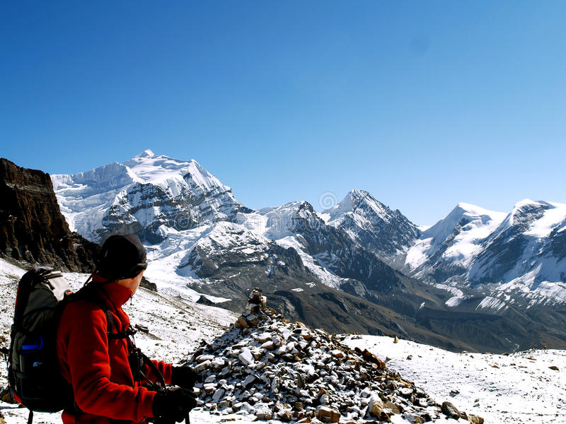 Download Tourist In Thorong La Pass Editorial Photography - Image: 22709497