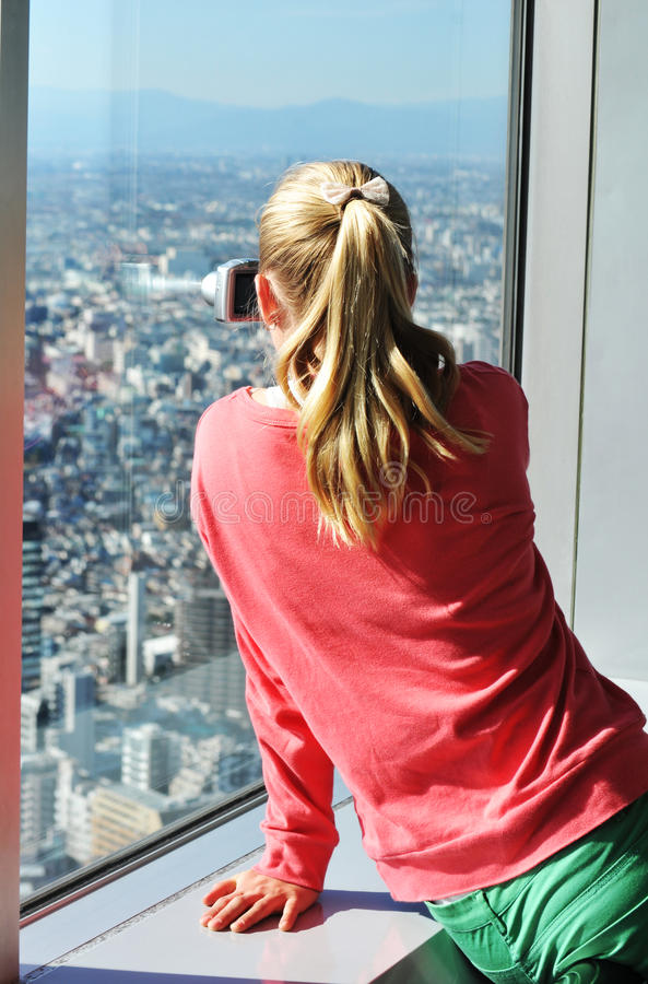 Tourist in Tokyo stock image