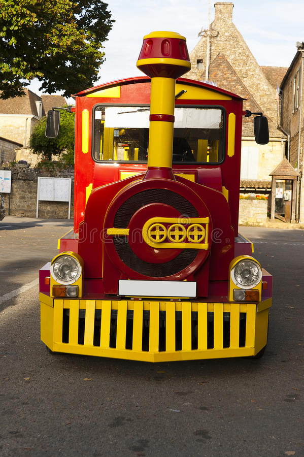 Tourist train Domme France royalty free stock photos