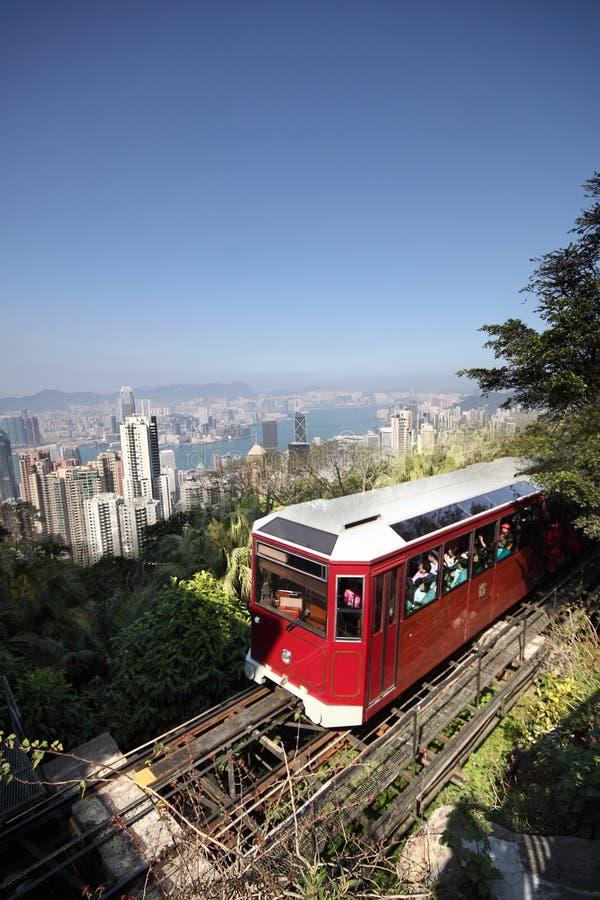 Tourist Tram At The Peak Royalty Free Stock Photo