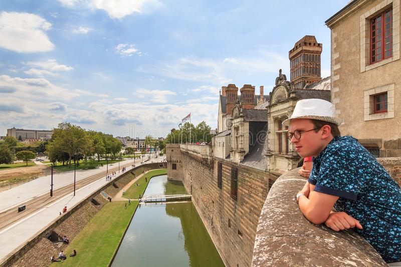 Tourist view of Nantes royalty free stock image