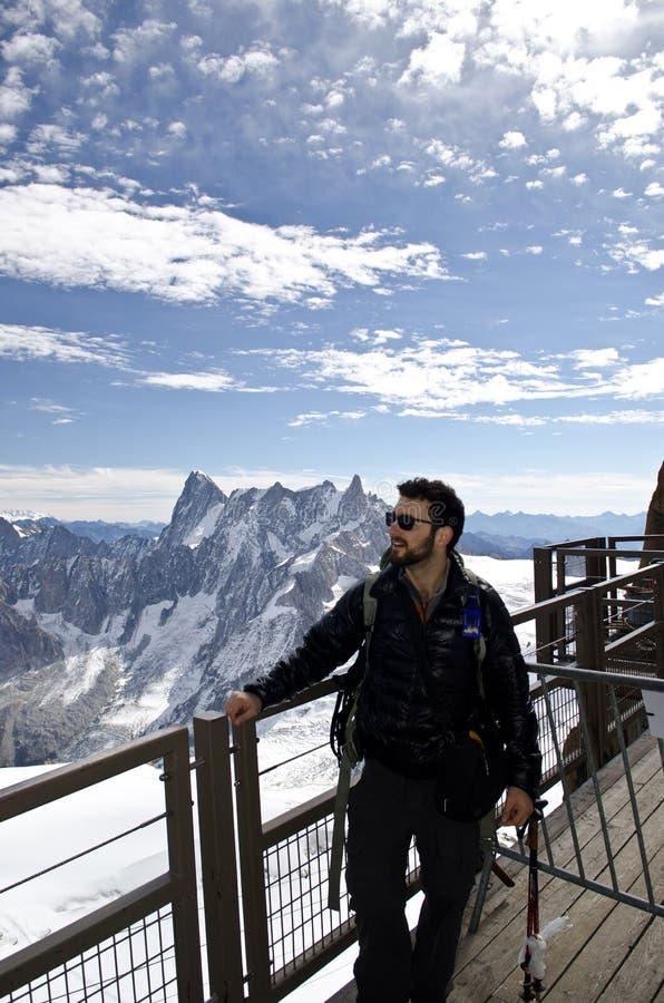Tourist on a view point stock photo
