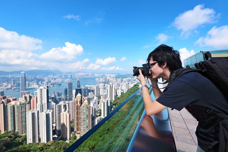 Tourist visit Hong Kong royalty free stock images