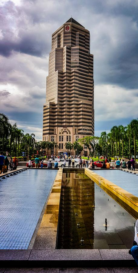 Tourist vor allgemeiner Bank, kualampur, Malaysia, 2018 stockbild