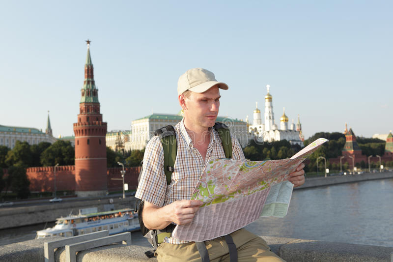 Touriste à Moscou, Russie photo libre de droits