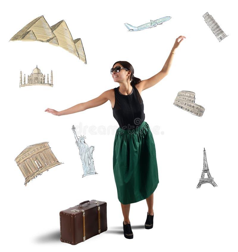 Touriste élégant rêveur images stock