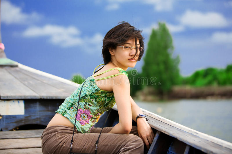 Touriste asiatique image stock