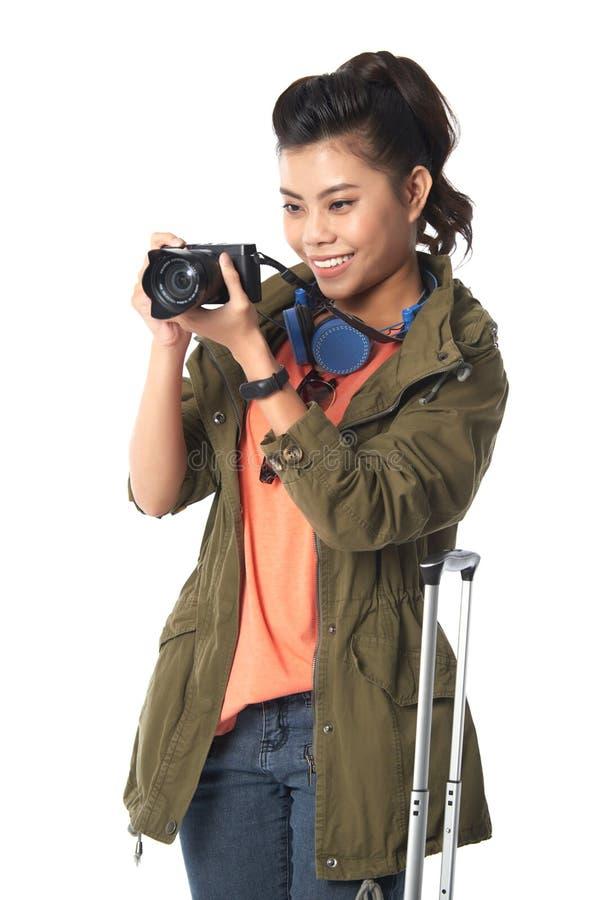 Touriste attirant prenant la photo images libres de droits