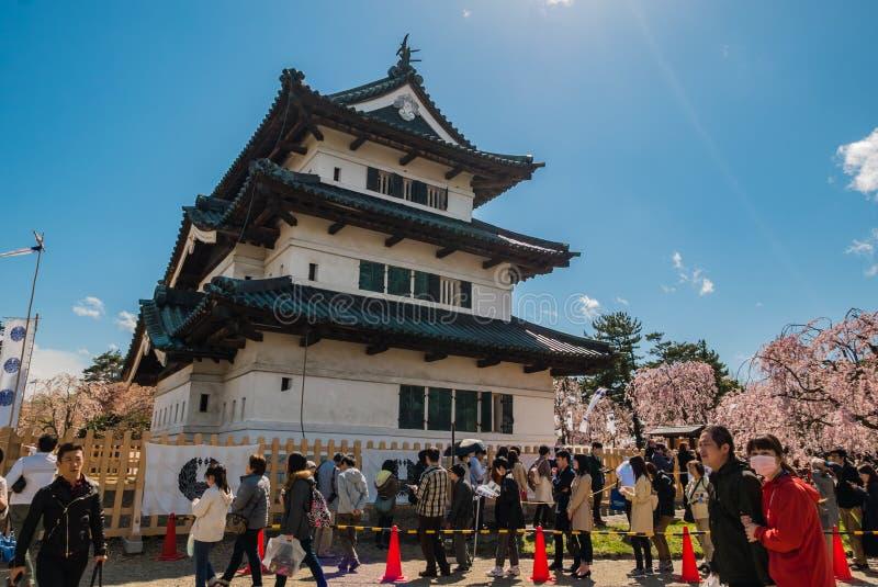 Download Touriste Au Parc De Château De Hirosaki Image stock éditorial - Image du construction, centrale: 76089354
