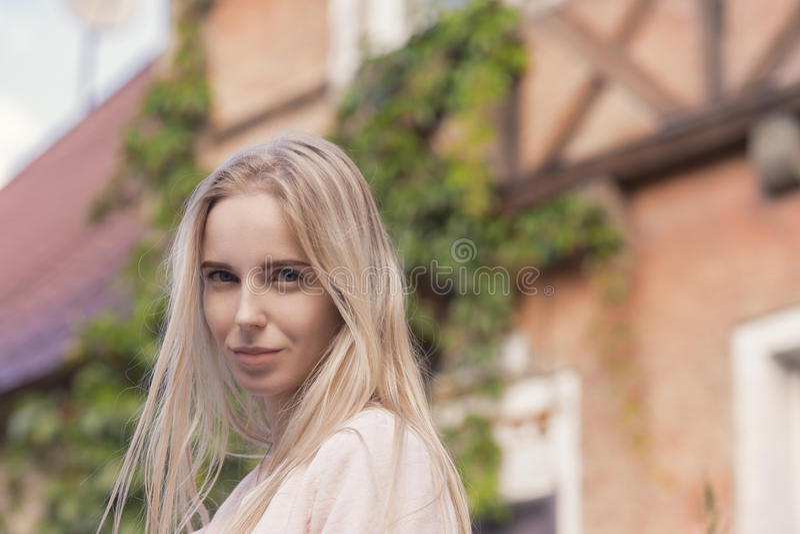 Touriste blonde de femme images libres de droits