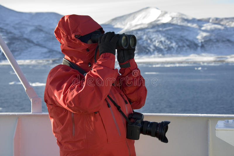 Touriste d'aventure en Antarctique photo libre de droits