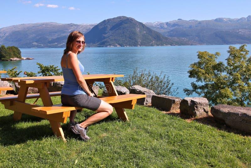 Touriste de la Norvège images libres de droits