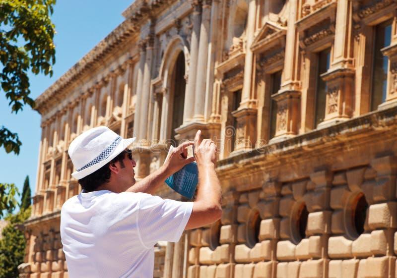 Touriste effectuant des illustrations photographie stock libre de droits